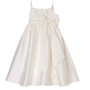 Us Angels Big Girls Taffeta Empire Dress With Sash